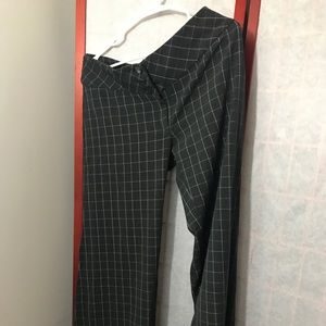High waisted checked pants from urban